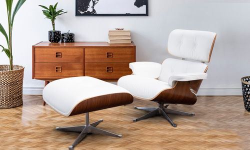 White   new lifestyle replica eames lounge chair   ottoman   web1