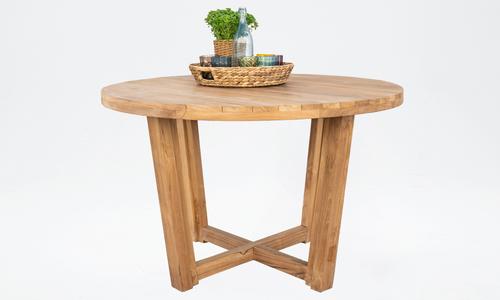 Isla round teak dining table 2567   web4