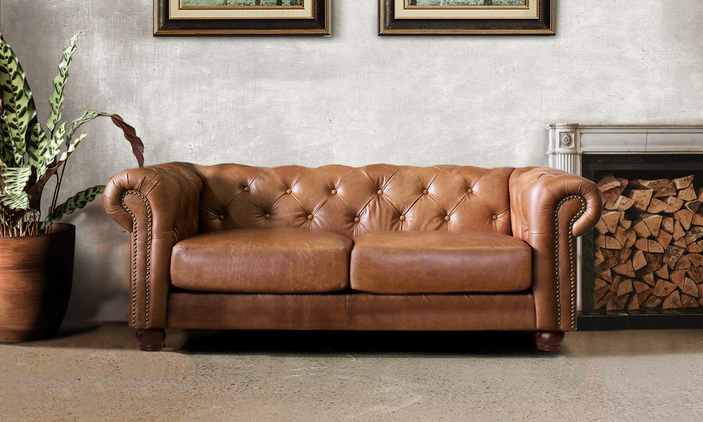 Lexington 2 seater leather chesterfield sofa lifestyle   web1