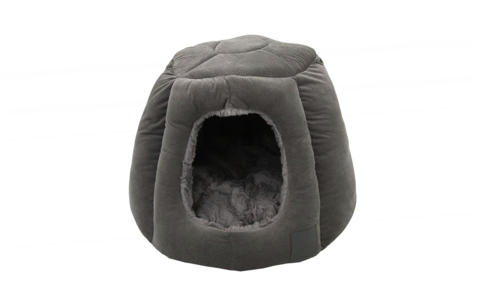 Portsea cat igloo grey plush 2972   web1