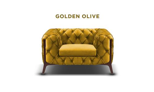 New golden olive   diablo velvet button armchair   web1