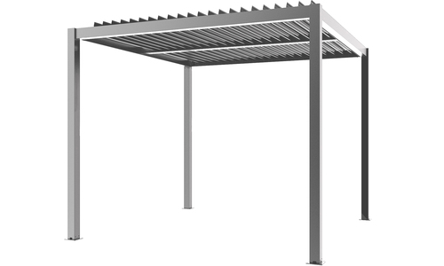 Matte grey   aluminium pergola   web 2