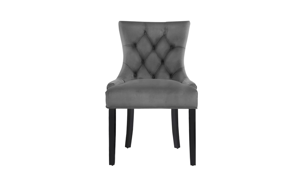 Set of 2 velvet french provincial dining chairs 3647   web3