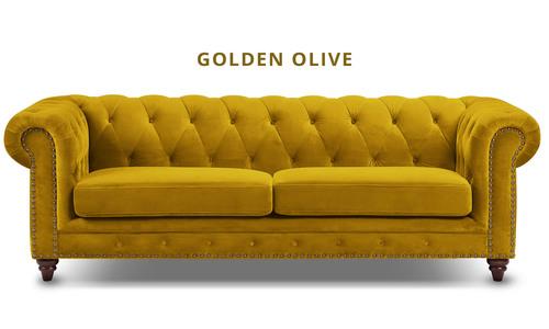 Golden olive   kensington velvet button 3 seater sofa   web1