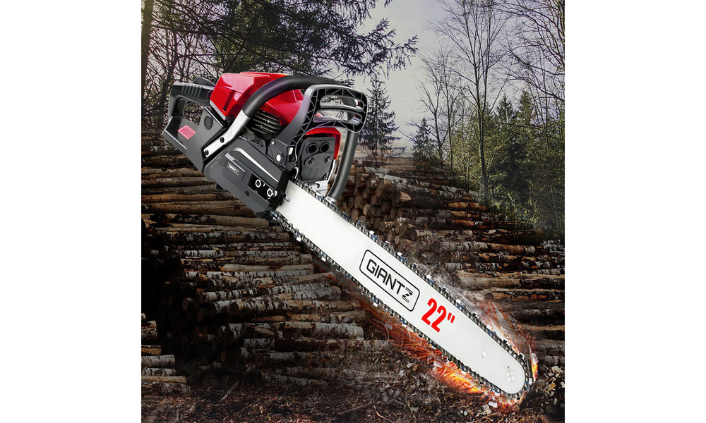 Giantz latest 62cc petrol commercial chainsaw 3669   web7