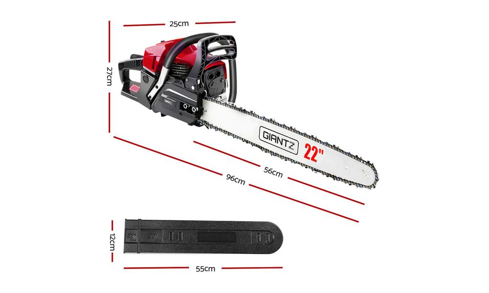 Giantz latest 62cc petrol commercial chainsaw 3669   web2