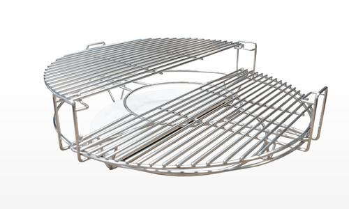 Kamado split level cooker