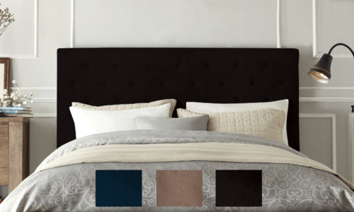 Velvet headboard swatches feature