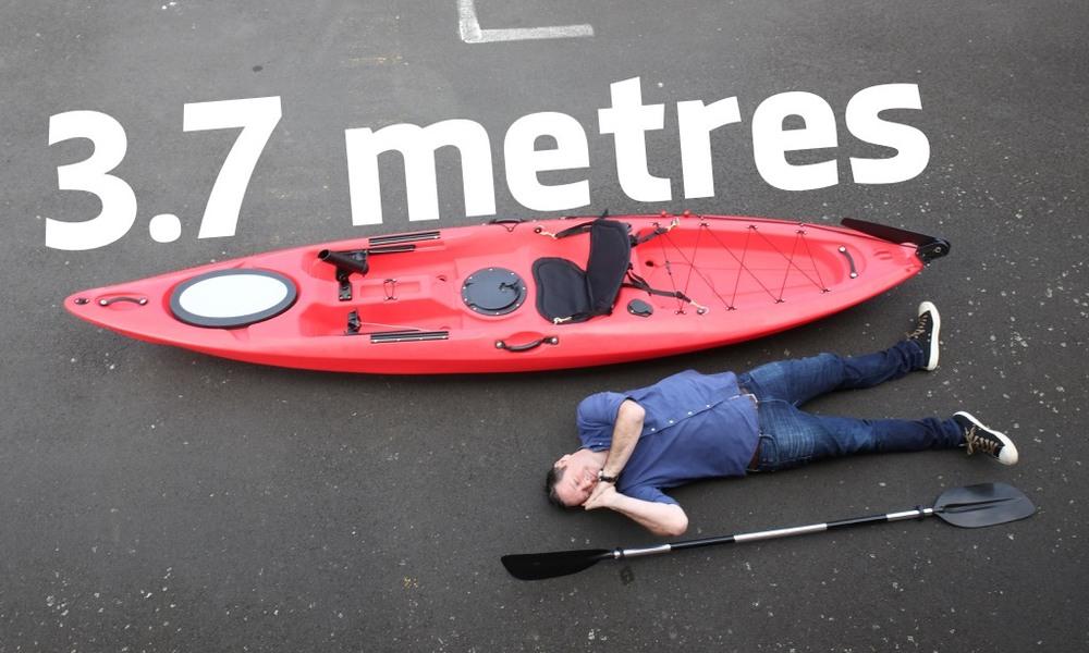 3.7m single kayak