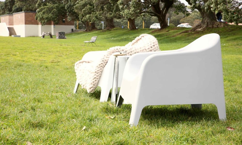 Container Door | Wide Plastic Tub Chair