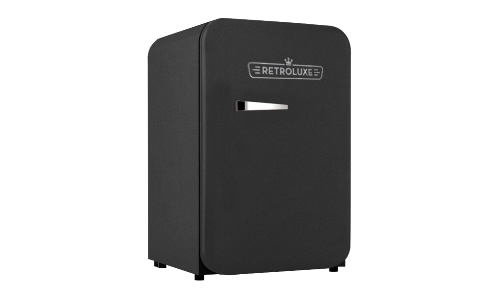 Retroluxe fridge matte black 2