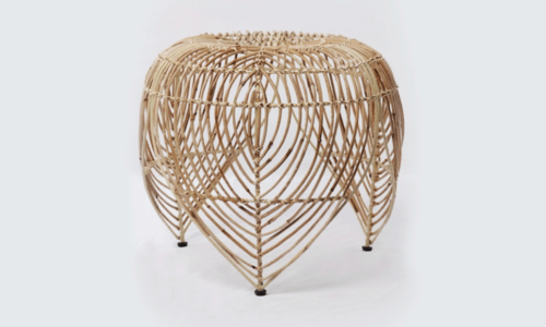 Natural rattan leaf stool retouched