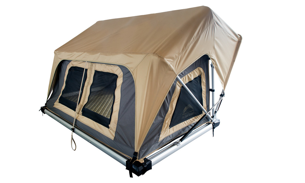 Auto pop up roof top tent with telescopic ladder web 4