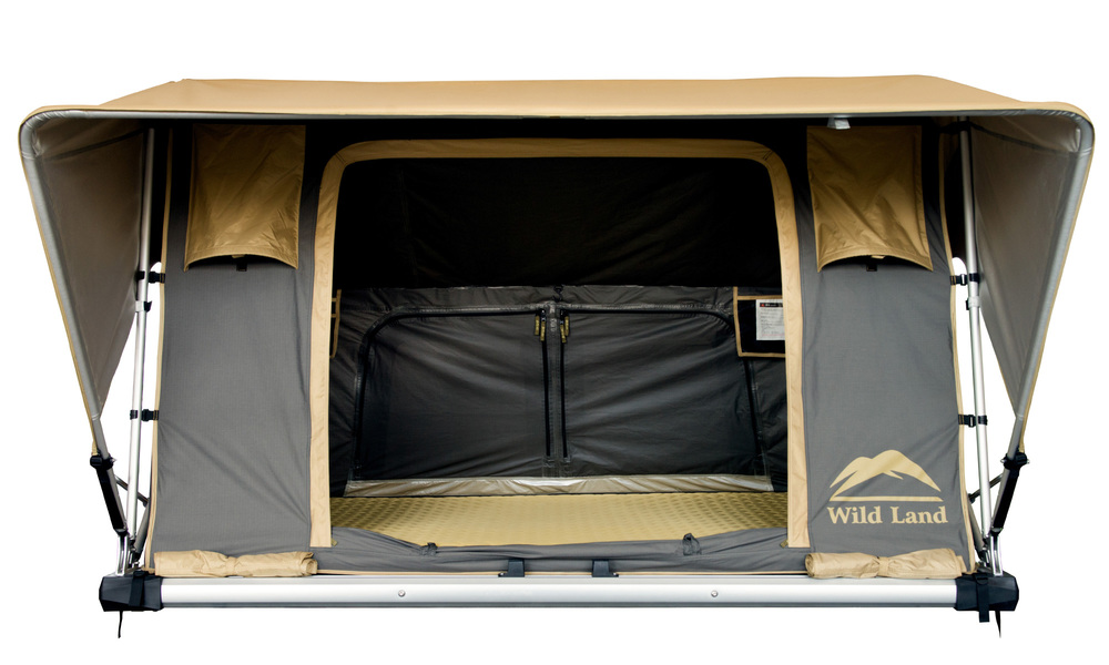 Auto pop up roof top tent with telescopic ladder web 2
