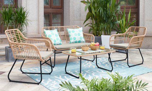 4 piece pp cane wicker lounge set web