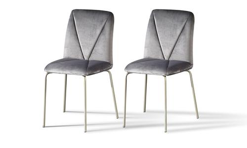 Grey velvet dining chairs web 1