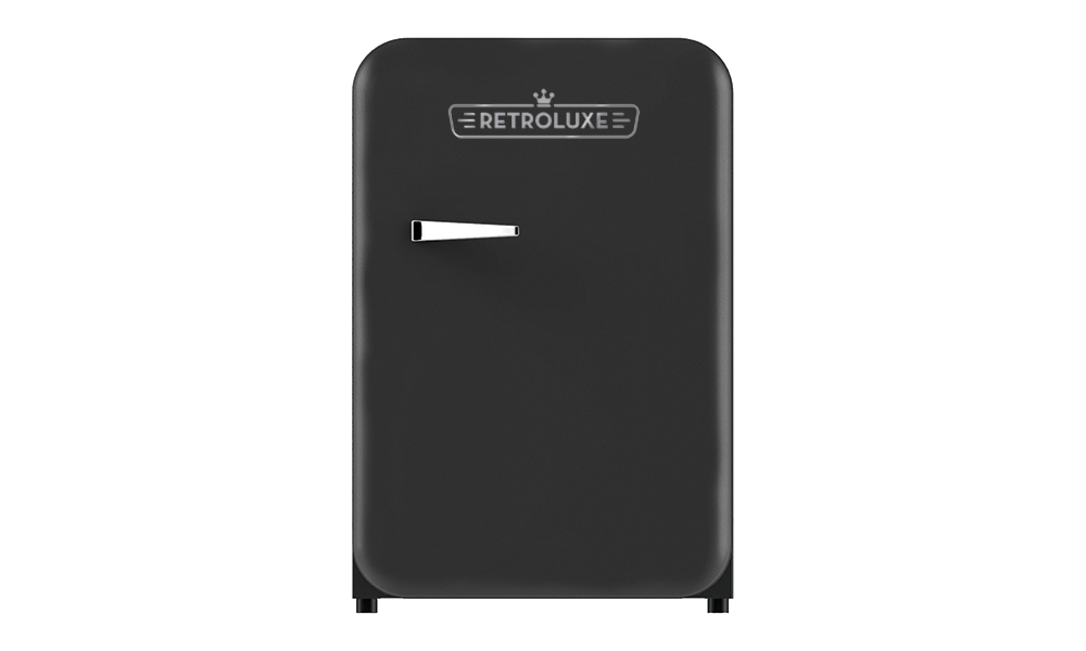 Retroluxe fridge matte black
