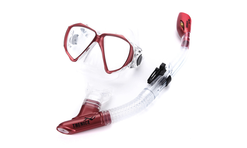Snorkel and fin   red   web