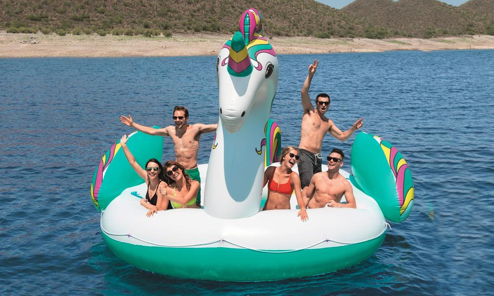 Giant 6 person inflatable unicorn  web4