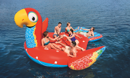 Giant 6 person inflatable parrot   web
