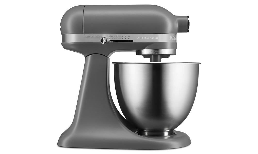 Kitchenaid artisan mini   matte grey side   web