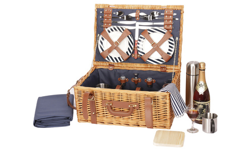 Luxury willow picnic hamper for 4   web