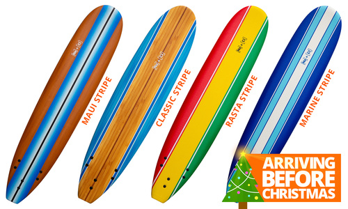Soft surfboards striped   xmas