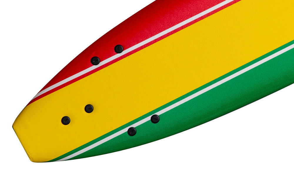 Soft surfboard striped   rasta   web3
