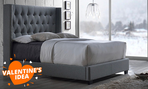 Studded quilted bedframe   val