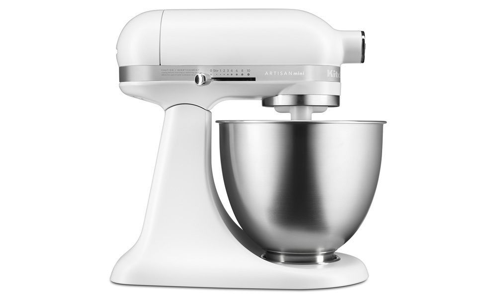Kitchenaid artisan mini   matte white side   web