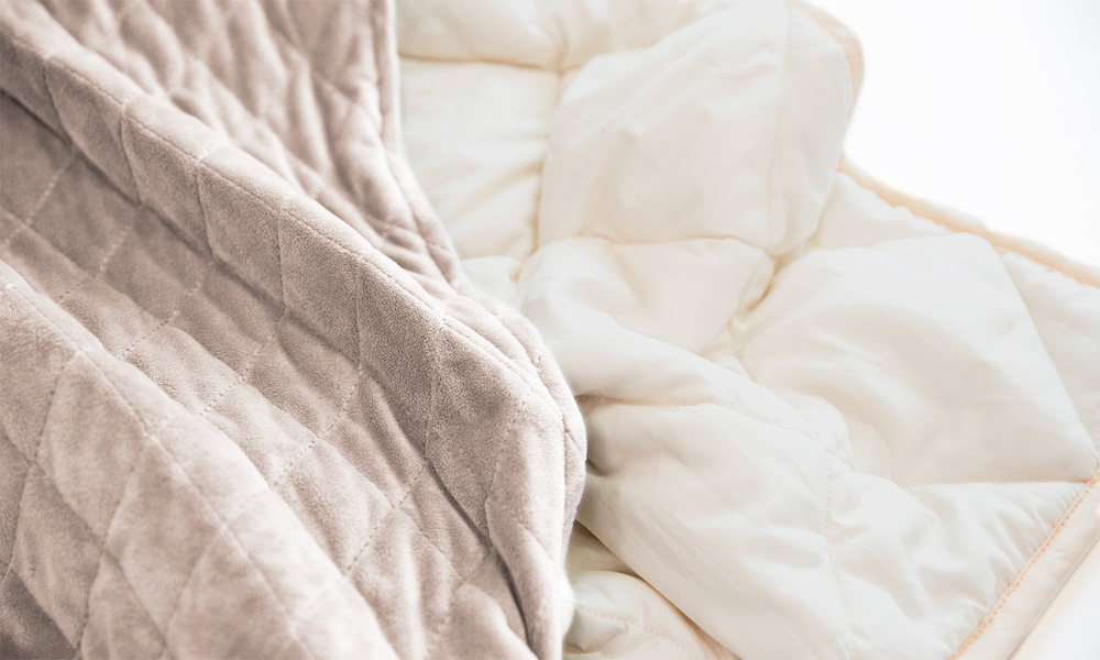 Light taupe   weighted blanket   web3