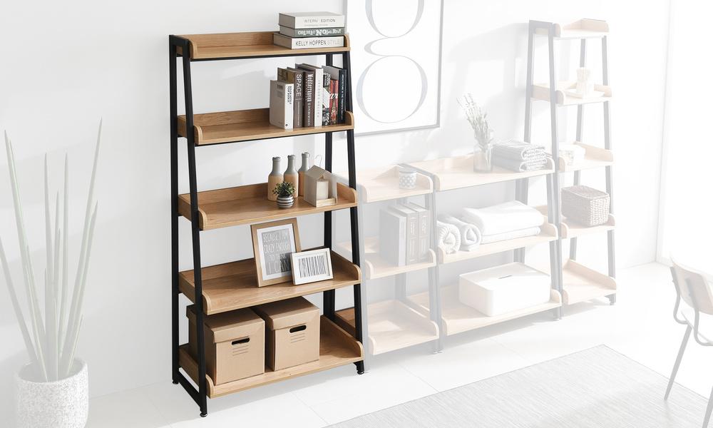 5 tier 80cm   hayden bookshelf   web2