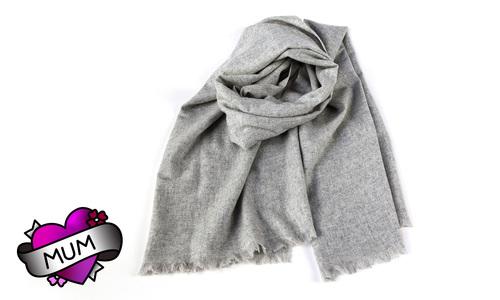 Cashmere scarf   grey   mum