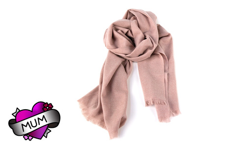 Cashmere scarf   dusky pink   mum