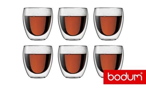 Bodum double wall glass 6pc   web1