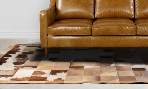 Cowhide patchwork rug   web1