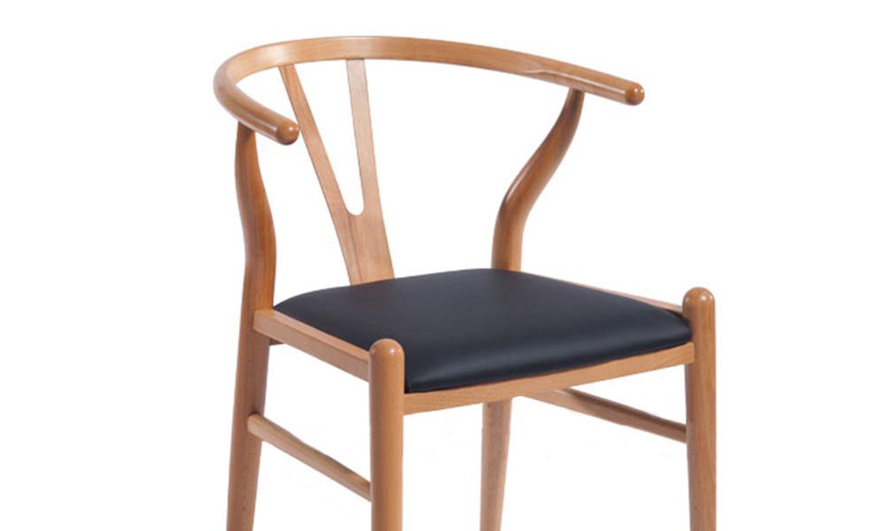 Replica hans wegner wishbone barstool w. pu seat   web2