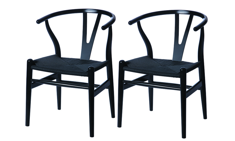 Black   replica hans wegner wishbone chairs   web1