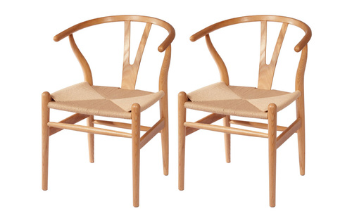 Natural   replica hans wegner wishbone chairs   web1
