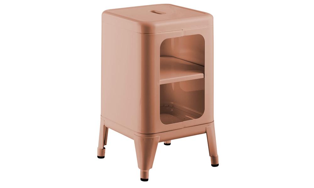 Dusky pink   replica frederic gaunet tolix cabinet 2 tier   web1