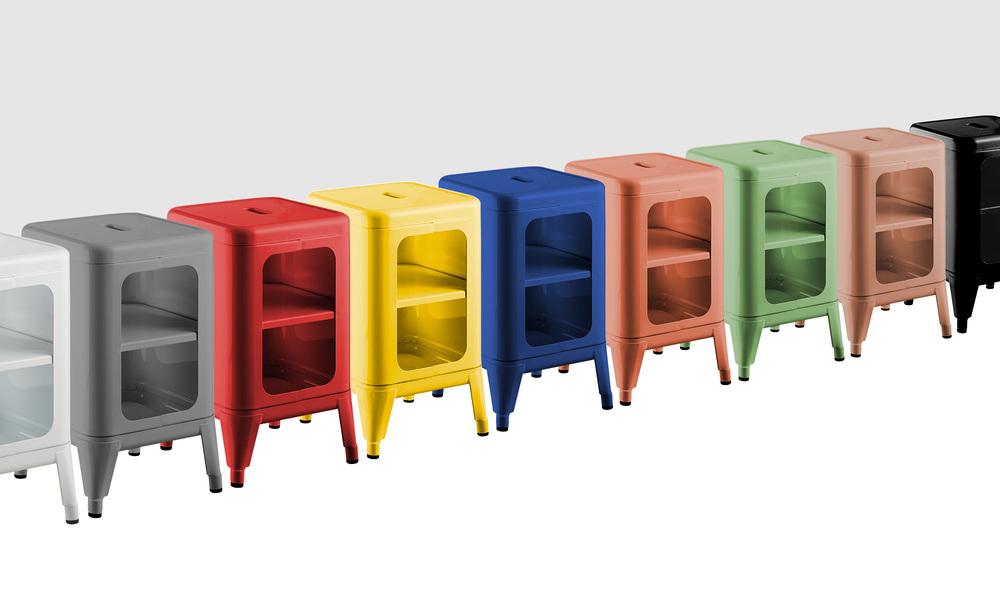 Replica frederic gaunet tolix cabinet 2 tier   web1