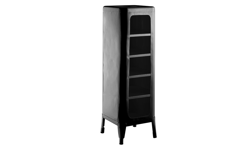 Black   replica frederic gaunet tolix cabinet 5 tier   web1