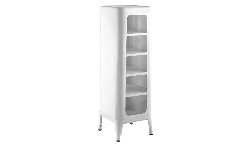 White   replica frederic gaunet tolix cabinet 5 tier   web1