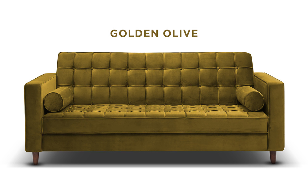 Golden olive   knightly velvet couch   web1