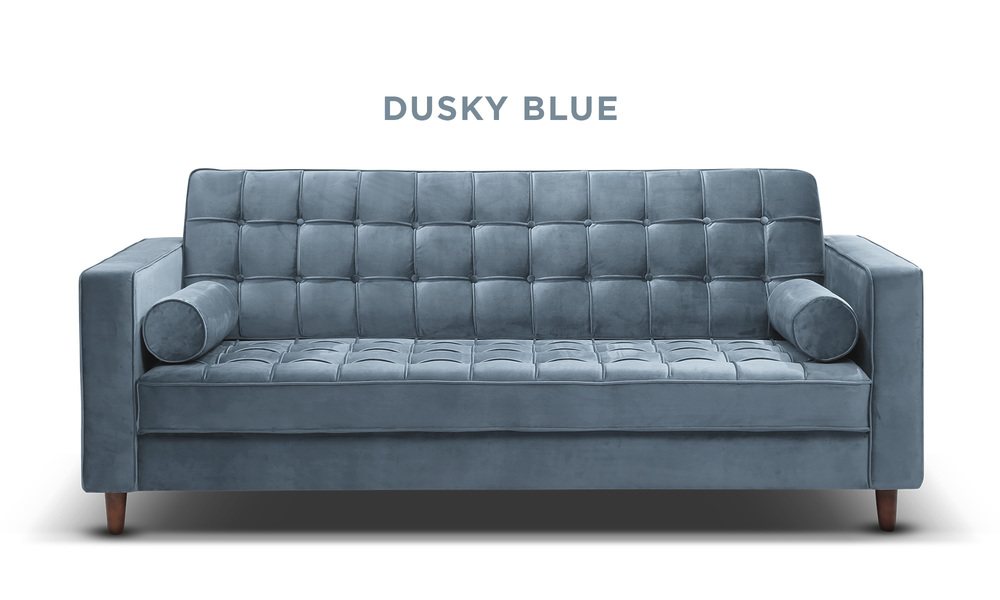Dusky blue   knightly velvet couch   web1