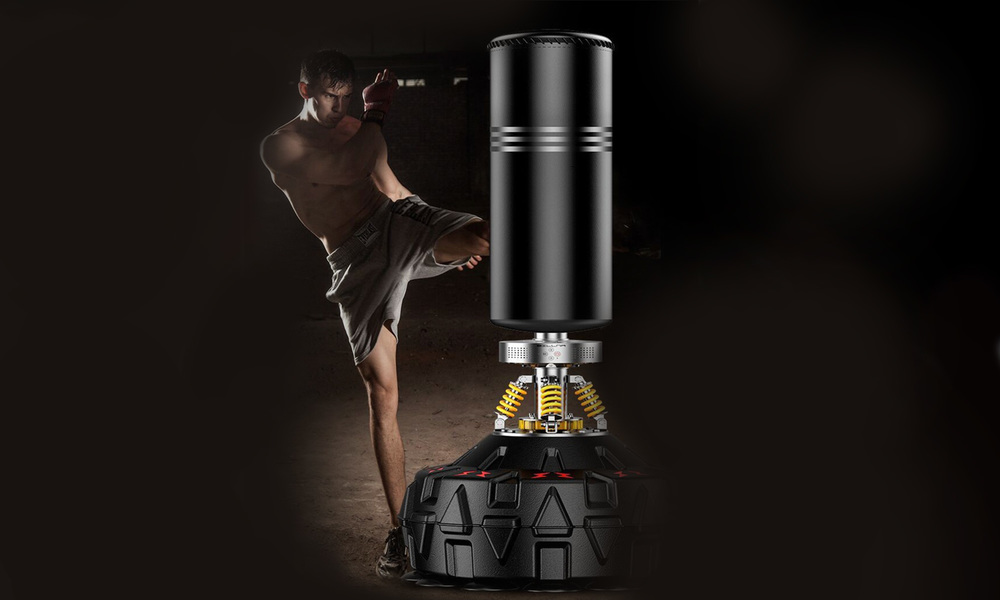 Freestanding boxing bag w bluetooth   web5