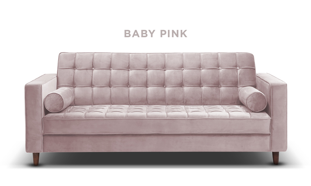 Baby pink   knightly velvet couch   web1