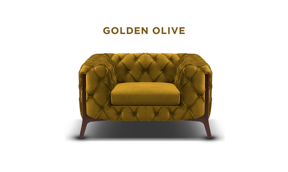 Golden olive   diablo velvet button armchair   web1