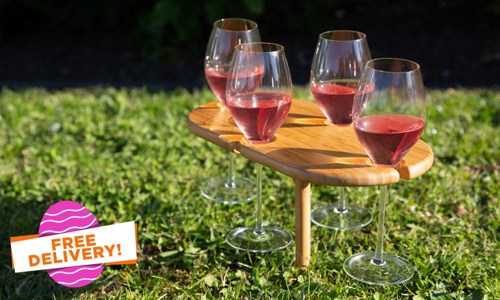 Outdoor 4 glass wine holder   easter