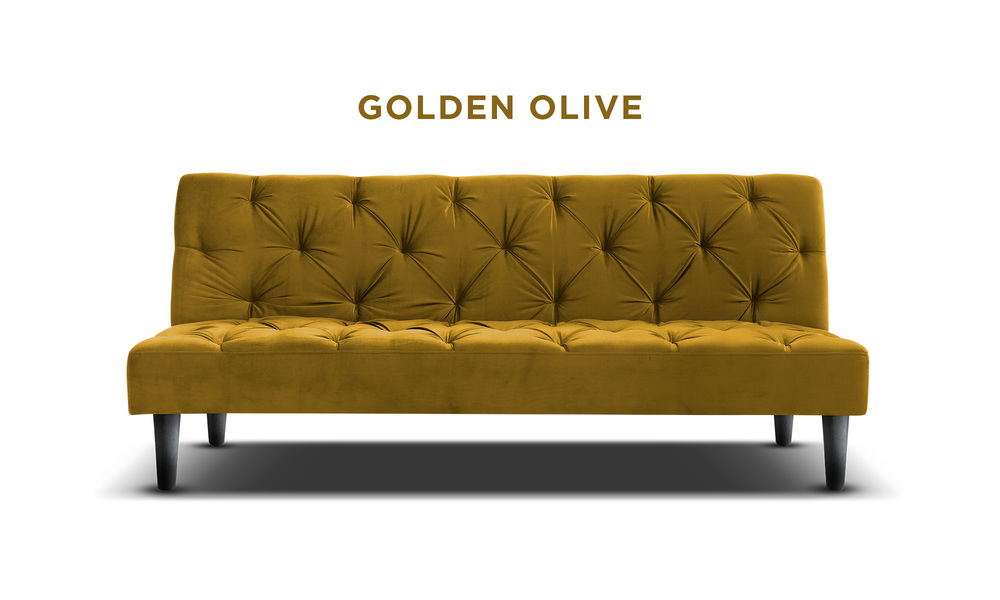 Golden olive   campbell velvet sofa bed   web1